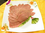 盘装的熟牛肉片图片欣赏