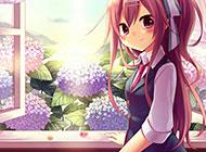 甜美清纯的动漫少女图片