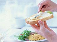 原味的白吐司面包图片