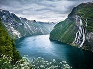 挪威盖朗厄尔峡湾风景高清桌面壁纸
