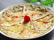 韩国美食海鲜葱饼图片