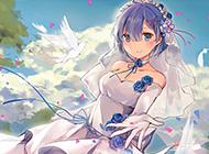 穿婚纱的雷姆高清壁纸欣赏