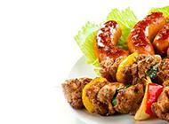 精美的台湾小吃烤香肠图片