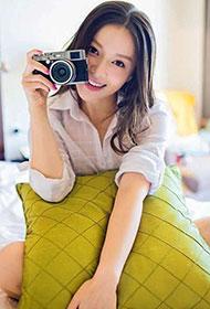 明星王紫依白衬衫唯美写真