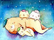 可爱萌萌哒卡通动物图片