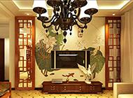 三款简约中式电视背景墙图片