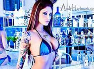 欧美美女花臂纹身图片欣赏