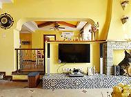 简约的小客厅电视背景墙效果图