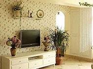 最新田园风格电视背景墙设计案例