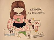 萌萌哒可爱卡通女孩图片