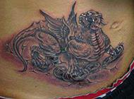 好看的招财貔貅纹身图片