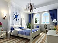 纯美的地中海风格卧室装修图片