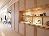 大型室内客厅复古装修效果图