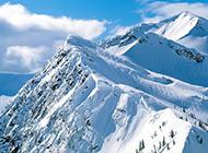 高清晰度冬天雪山风景图片