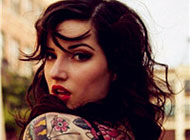 超有范儿的欧美女生纹身头像