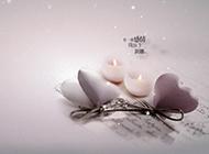 心形蜡烛ppt爱情背景图片