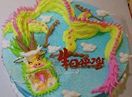 生肖龙蛋糕实拍图片