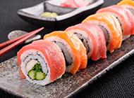 好吃的三文鱼寿司图片