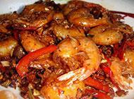 滋味鲜美的红烧大虾图片