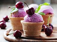 超诱人的甜筒冰淇淋图片