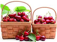 两篮子的樱桃高清图片素材