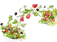 五彩的蔬菜沙拉图片素材