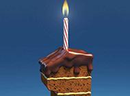 创意十足的巧克力蛋糕图片素材