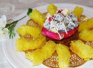 广东粤菜炸脆奶拼沙拉图片