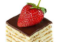 一小块的草莓蛋糕图片