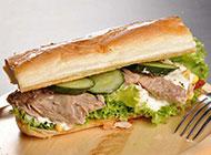 好吃易做的蔬菜三明治图片