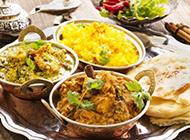 丰盛的印度美食高清图片