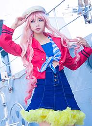 粉色萌妹cosplay写真摄