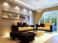 花园风格中式客厅装修效果图