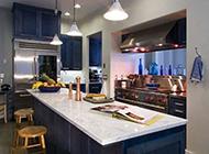 地中海风格半开放式厨房装修图