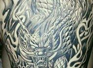 霸气上古神兽后背纹身图案