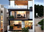 以色列建筑师简约住宅建筑设计图