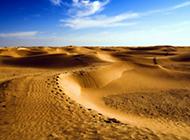 浩瀚无边的沙漠风景高清图片