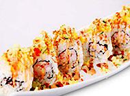 特色玉子虾仁寿司卷图片