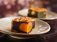 中秋节香芋蛋黄月饼图片
