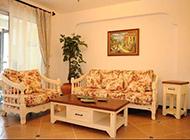 温馨清雅的客厅田园风格装修效果图欣赏
