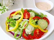田园蔬菜沙拉实拍图片
