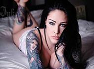 芬香艺术女生花臂纹身图案