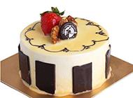 法式巧克力奶油蛋糕图片