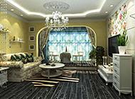 大户型欧式客厅装修效果图赏析