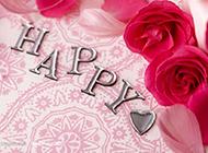 文字与玫瑰花艺术图素材