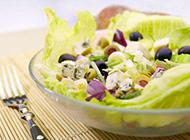 蔬菜沙拉摆盘实拍图片