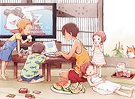夏日的清凉超萌动漫图片