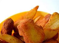 香甜的油炸小吃土豆片图片