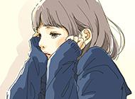 二次元伤感女生动漫图片