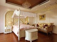 别墅卧室欧式奢华装修效果图